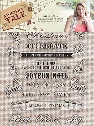 Crafter's Companion - A Winter's Tale Collection by Sara Davies - Holly Jolly Clear Stamps