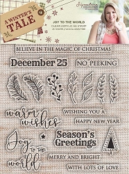 Crafter's Companion - A Winter's Tale Collection by Sara Davies - Joy To The World Clear Stamps