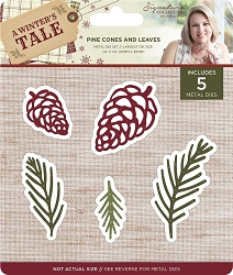 Crafter's Companion - A Winter's Tale Collection by Sara Davies - Pine Cones and Leaves Die