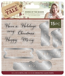 Crafter's Companion - A Winter's Tale Collection by Sara Davies - Words of the Season Stamp & Die Set