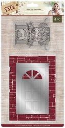 Crafter's Companion - A Winter's Tale Collection by Sara Davies - Home for Christmas Embossing Folder/Die/Stamp set