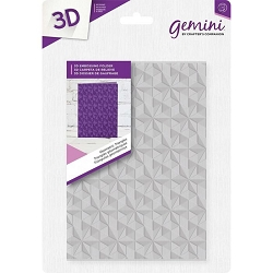 Crafter's Companion - Gemini Collection - Geometric Triangles Emboss Folder