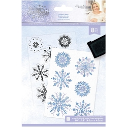 Crafter's Companion - Glittering Snowflakes Collection by Sara Davies - Frosted Layers Clear Stamps