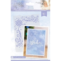 Crafter's Companion - Glittering Snowflakes Collection by Sara Davies - 5x7 Touch Of Winter Embossing Folder