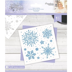 Crafter's Companion - Glittering Snowflakes Collection by Sara Davies - Snow Is Falling 6