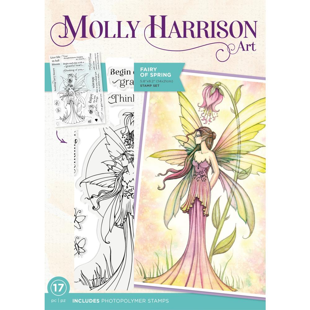 Crafter's Companion - 6 new Molly Harrison Art stamps