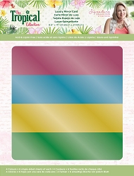 Crafter's Companion - Tropical Collection by Sara Davies - Luxury Cardstock Pack:  Mirror Card