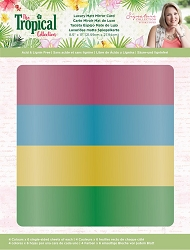 Crafter's Companion - Tropical Collection by Sara Davies - Luxury Cardstock Pack:  Matte Card