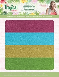 Crafter's Companion - Tropical Collection by Sara Davies - Luxury Cardstock Pack:  Glitter Card