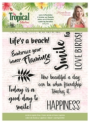 Crafter's Companion - Tropical Collection by Sara Davies - Sunshine Smiles Clear Stamps