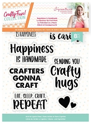 Crafter's Companion - Crafty Fun! Collection by Sara Davies - Happiness is Handmade Clear Stamps