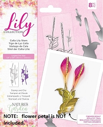 Crafter's Companion - Lily Collection - Calla Lily Stem Stamp & Die set