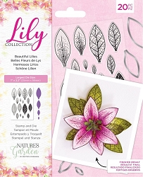 Crafter's Companion - Lily Collection - Beautfiul Lilies Stamp & Die set