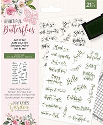 Crafter's Companion - Beautiful Butterflies Collection - Just to Say Clear Stamps