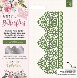 Crafter's Companion - Beautiful Butterflies Collection - Intricate Floral Border Die