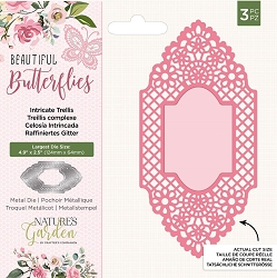 Crafter's Companion - Beautiful Butterflies Collection - Intricate Trellis Die