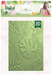 Crafter's Companion - Tropical Collection by Sara Davies - Aloha 5x7  3D Embossing Folder