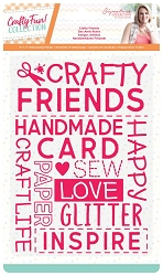 Crafter's Companion - Crafty Fun! Collection by Sara Davies - Crafty Friends 5x7 Embossing Folder
