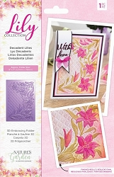 Crafter's Companion - Lily Collection - 5x7 Decadent Lilies 3D Embossing Folder