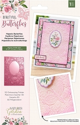 Crafter's Companion - Beautiful Butterflies Collection - 5x7 Majestic Butterflies 3D Embossing Folder