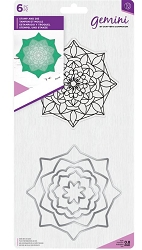 Crafter's Companion - Aura Mandala Clear Stamp & Die Set