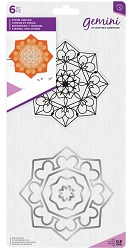 Crafter's Companion - Zen Mandala Clear Stamp & Die Set