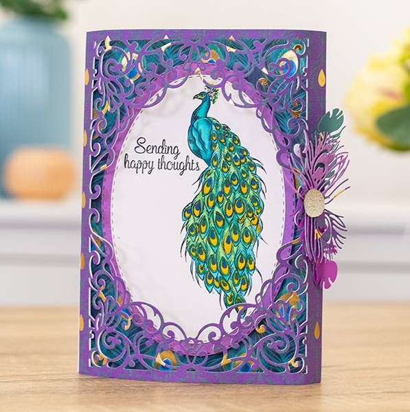 Crafter's Companion - Peacock Collection - Pretty Plumage Clear Stamps