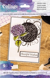 Crafter's Companion - Heartfelt Wishes Collage Clear Stamps