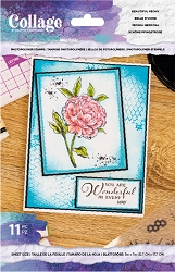 Crafter's Companion - Beautiful Peony Collage Clear Stamps