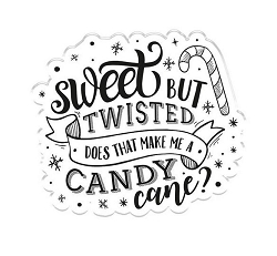 Crafter's Companion - Sweet But Twisted Clear Stamps