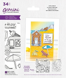 Crafter's Companion - Life's a Beach Clear Stamps & Die Set