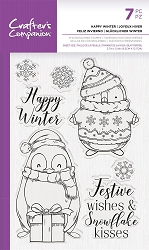 Crafter's Companion - Happy Winter Clear stamp