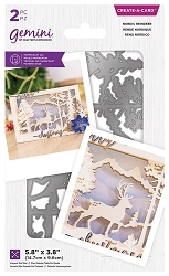 Crafter's Companion - Nordic Reindeer Create-a-Card die