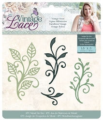 Crafter's Companion - Vintage Lace Collection by Sara Davies - Vintage Vines Die Set