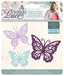 Crafter's Companion - Vintage Lace Collection by Sara Davies - Kaleidoscope of Butterflies Die Set