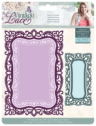 Crafter's Companion - Vintage Lace Collection by Sara Davies - Rococo Frames Die Set