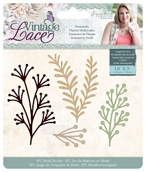 Crafter's Companion - Vintage Lace Collection by Sara Davies - Botanicals Die Set