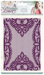 Crafter's Companion - Vintage Lace Collection by Sara Davies - 5x7 Venetian Lace Embossing Folder