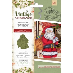 Crafter's Companion - Vintage Christmas Nature's Garden - St. Nicholas Clear Stamp & Die Set