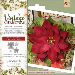 Crafter's Companion - Vintage Christmas Nature's Garden - Poinsettia Perfection Die