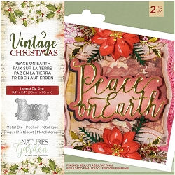 Crafter's Companion - Vintage Christmas Nature's Garden - Peace On Earth Die