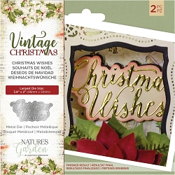 Crafter's Companion - Vintage Christmas Nature's Garden - Christmas Wishes Die