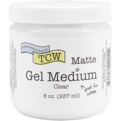The Crafter's Workshop - Clear Matte Gel Medium 8 oz.