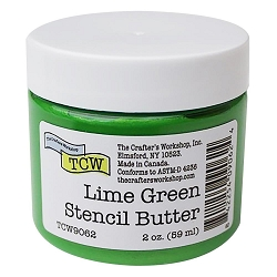 The Crafter's Workshop - Lime Green Stencil Butter 2 oz.