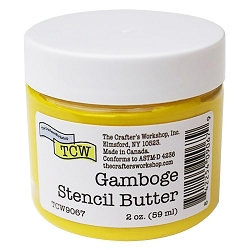 The Crafter's Workshop - Gamboge Stencil Butter 2 oz.