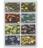 Craft Medley - Sequins - Dazzling Metallics Assortment (7mm)
