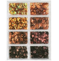 Craft Medley - Sequins - Box of Chocolates Assortment (7mm)
