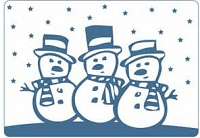 Crafts Too-Dutch Embossing Folder-Snowmen  (A2 size)