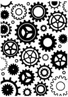 Crafts Too - Embossing Folder - Gears (5
