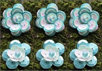 Creative Charms - Sequin Flowers - 5/8